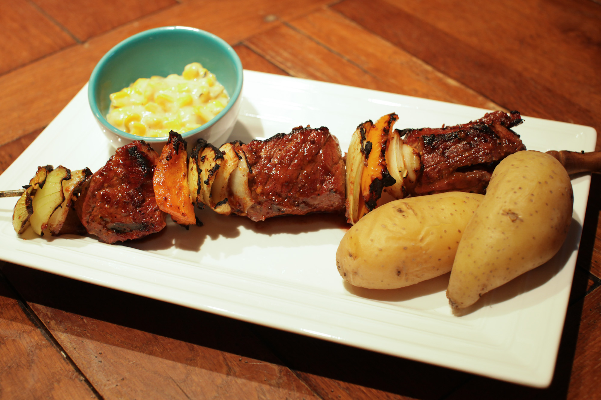 brochette boeuf moutarde